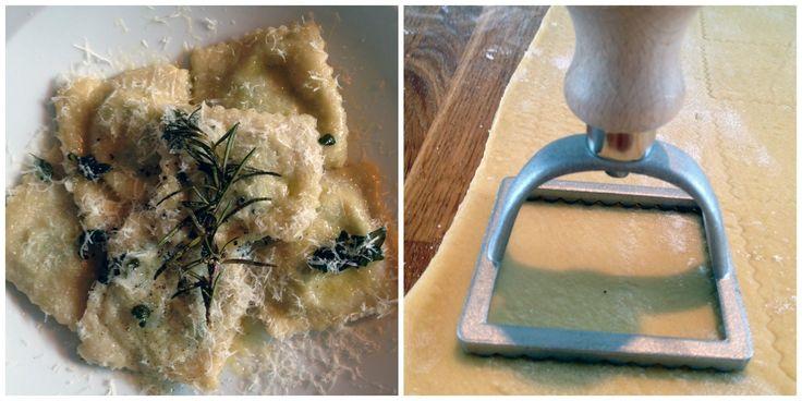 Ravioli med ricotta og spinat