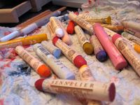 Sennelier Oil Pastels...simply outrageously luscious. 'spensive too!