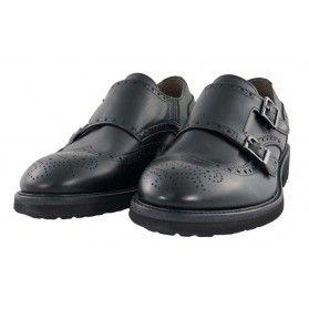 Scarpa brogue/monk - NeroGiardini Uomo #scarpe #brogue #monk #verapelle #black #madeinitaly @NeroGiardini