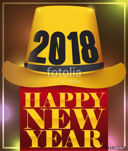 Festive Golden New Year Hat to be Worn in 2018