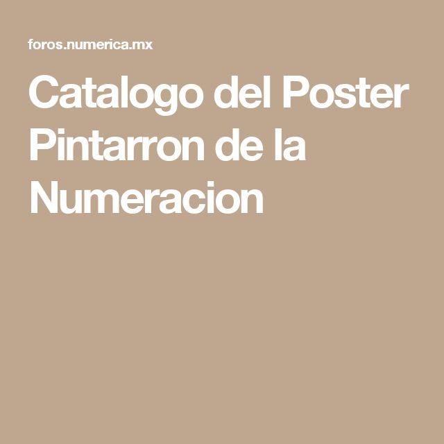 Catalogo del Poster Pintarron de la Numeracion