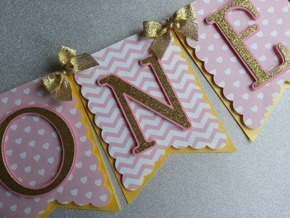 Oro rosa e rosa e oro un seggiolone Banner Banner alta sedia