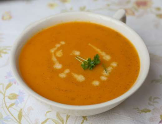Made simply from butternut pumpkin, warmed with a hint of fresh chilli and garlic. A warming and healthy soup which can be enjoyed as a light lunch or a hearty dinner.