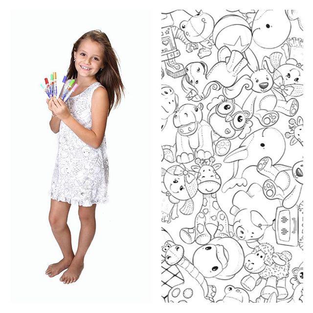 SnapWidget | Camisola de colorir. Para festa do pijama, para diversão antes de dormir, para personalizar! Fofa e divertida! Ainda tem pra mamãe também! www.babyfashionfun.com.br #BFF #babyfashion #babyfun #babyfashionfun #camisola #pijama #pijamainfantil #menina #personalizada #lookinhodanoite