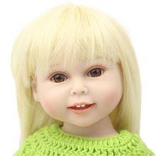 Nueva NPK 18 pulgadas renacida muñeca bebé realista muñeca American girl silicón lleno muñecas como regalos de cumpleaños envío gratis(China (Mainland))