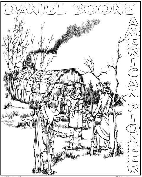 Daniel Boone - North American Explorer free coloring page for a homeschool history unit study