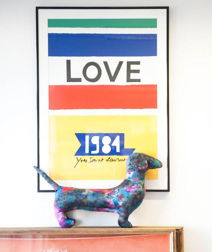 : Poster Design, Ysl Poster, Weenie Dogs, Love 1984 Ysl, Dachshund, Card 1984, Ysl 1984