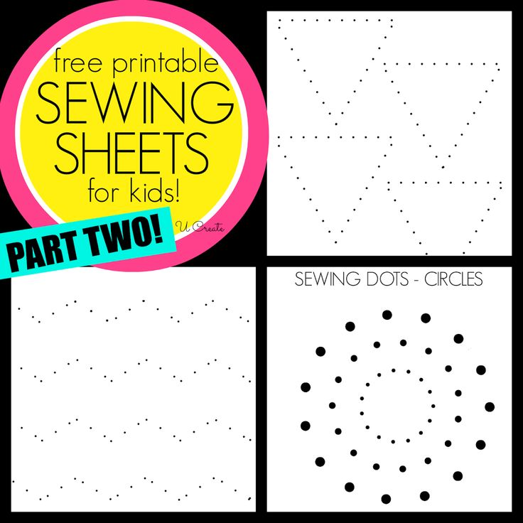 Sewing Sheets for Kids Part TWO! Like dot-to-dots but for sewing machines! u-createcrafts.com