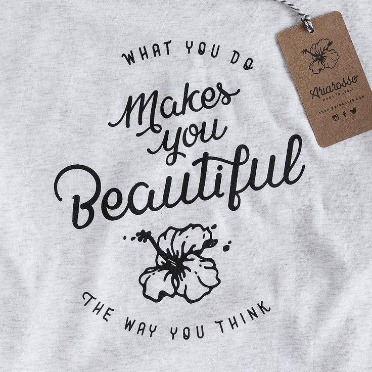 Ibiscus tshirt. #tshirt #white #printed #design #calligraphy http://bit.ly/2bUeMUc