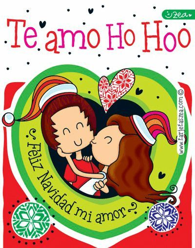 Amor En Navidad Caro Y David Besito De Navidad C Zea Www Tarjetaszea