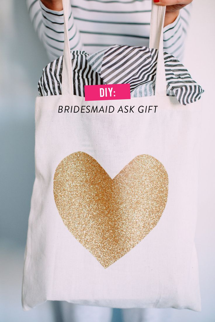 """Will You Be My Bridesmaid?"" A DIY Gift bag for your favorite ladies. By Caitlin Moran on SMP. See the 'how-to' on SMP: http://www.stylemepretty.com/2014/01/24/diy-bridesmaid-ask-gift/ Kate Ann Photo"