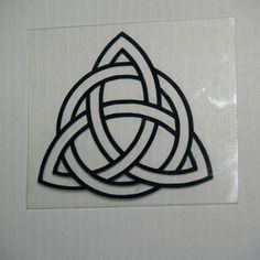 Appliqué noeud de la trinité/triquetra à appliquer en vinyl/flex thermocollant (motif celtique)