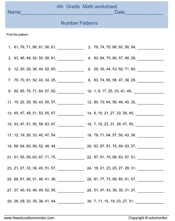 Best 25+ Number patterns worksheets ideas on Pinterest Number - long multiplication worksheets