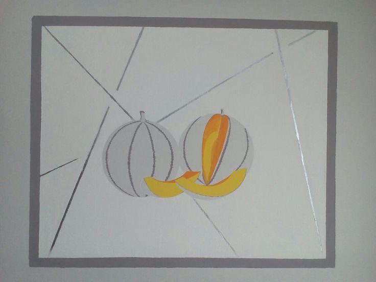 Charentais 2017 malba na zdi 100x75cm