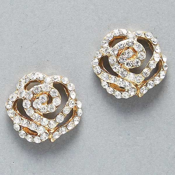 Crystal Rose Earrings on Emma Stine Limited