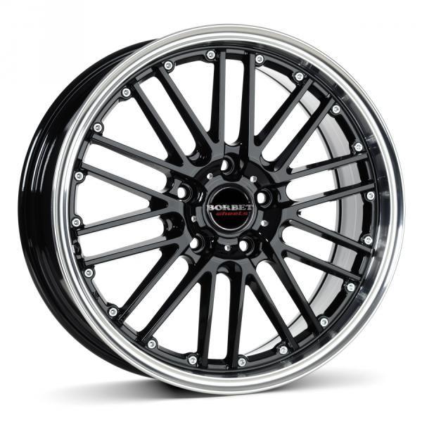 Borbet CW2 black rim polished CB57.06 5/112 17x8 ET35 Jante - Preturi, Jante magazine, Borbet CW2 black rim polished CB57.06 5/112 17x8 ET35 oferte