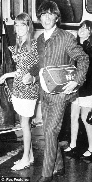Those were the days: Pattie grew close to George's friend Eric Clapton while they were still married but George wasn't bitter and attended their 1079 wedding, two years after his split from Boyd