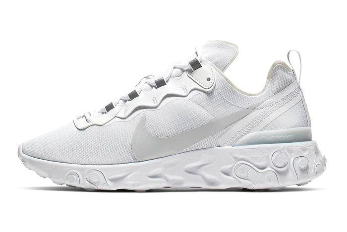 f4a47a7326 Nike React Element 55 goes Pure Platinum | модельеры | Sneakers ...