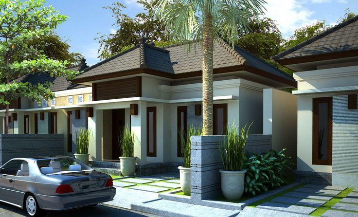 Dekorasi dan Desain Rumah Minimalis Type 45, Contoh Gambar Rumah Minimalis Tipe 45 Warna Dinding Putih Dan Atap Coklat