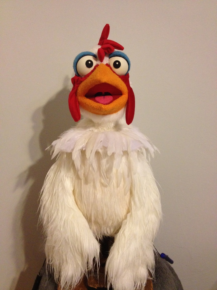 Professional -  Chicken Hand and Rod Puppet. $500.00, via Etsy.