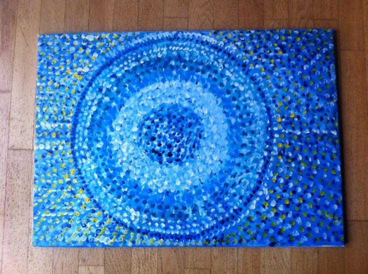 Návrat+ke+zdroji+Obraz+-+akvarel+na+plátně,+70x50cm