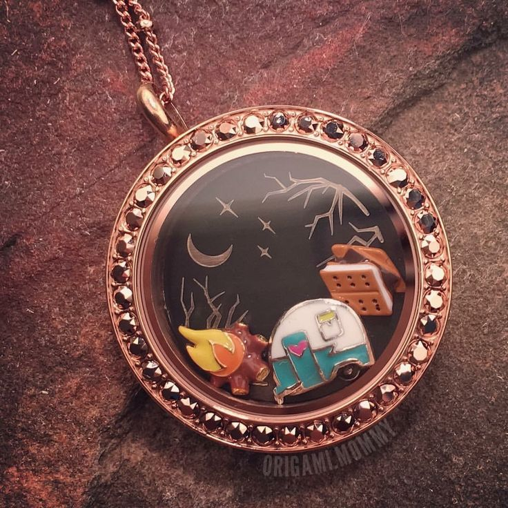 Origami Owl - Fall camping anyone? www.charmingsusie.origamiowl.com