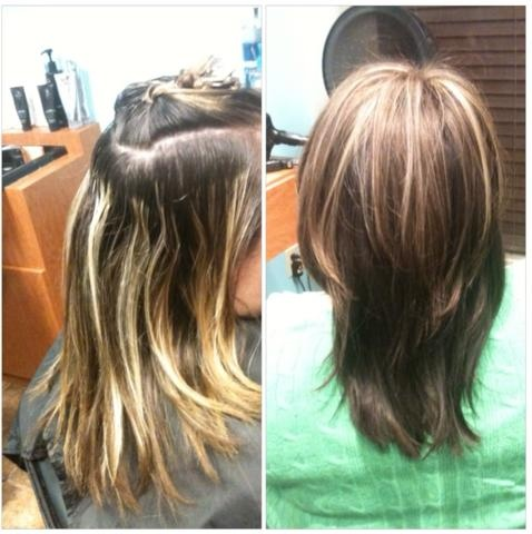 Before Amp After Partial Highlight And Color Hair By Me