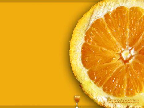 """Fond d'écran """"Jus d'orange"""""""