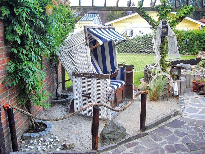 Strandkorb Garden Deco Garden Deco Beach Chairs Diy Outdoor Decor Backyard