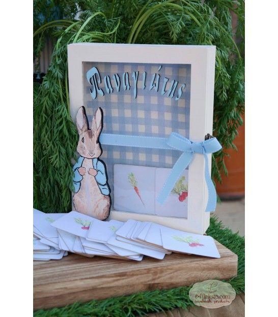 Κουτί ευχών βάπτισης Peter Rabbit