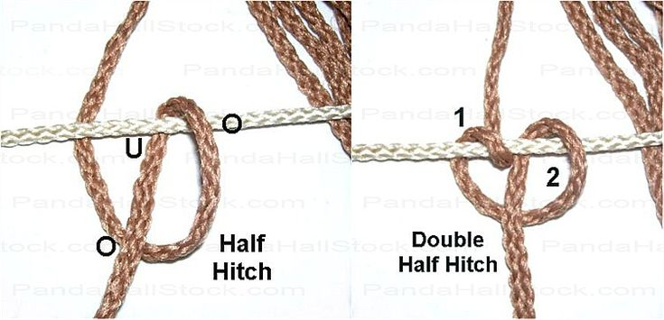 half hitch knot instructions
