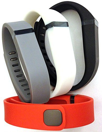 Set 4 Colors Large L 1pc Grey 1pc Black 1pc White 1pc Red Tangerine Replacement Bands With Clasp for Fitbit FLEX Only No tracker Wireless Activity Bracelet Sport Wristband Fit Bit Flex Bracelet Sport Arm Band Armband ** Read more reviews of the product by visiting the link on the image.
