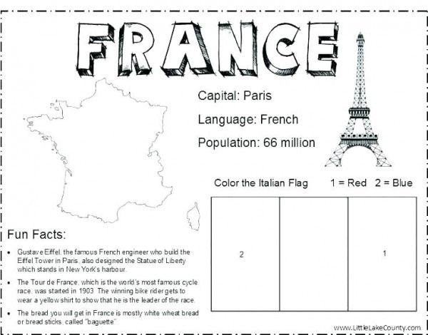 French Flag For Colouring Fransa Okul Oncesi Okul