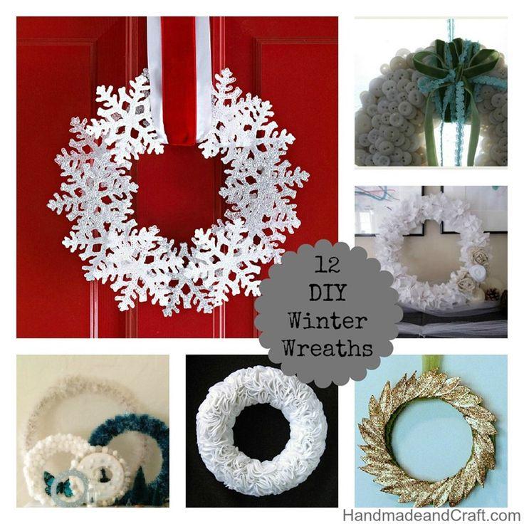 12 DIY Winter Wreaths