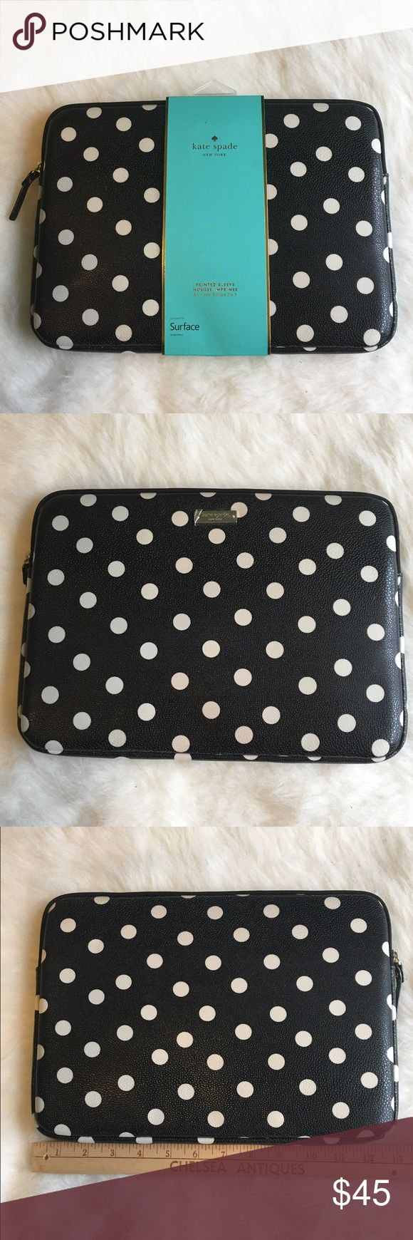 "Kate Spade Microsoft pro 3/11"" MacBook Air sleeve This is a Kate Spade Microsoft 3 and 11 inch MacBook Air sleeve. It's has protection and is easily cleanable. 💞BRAND NEW NEVER USED💞🚫NO TRADES🚫 kate spade Accessories Laptop Cases"