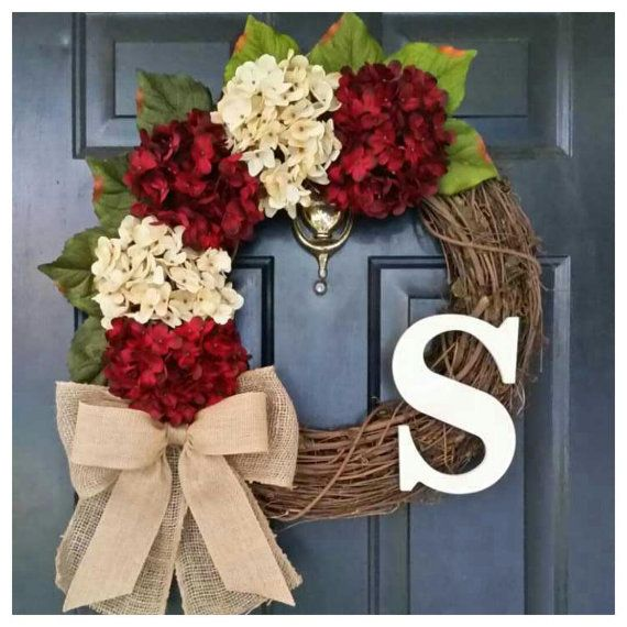 RED Wreath WINTER Wreath Door Wreath Wreath door AutumnWrenDesigns