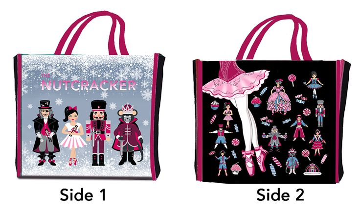 $4  SB1003: Reusable Ballet Shopping Bag with Nutcracker Characters NEW!