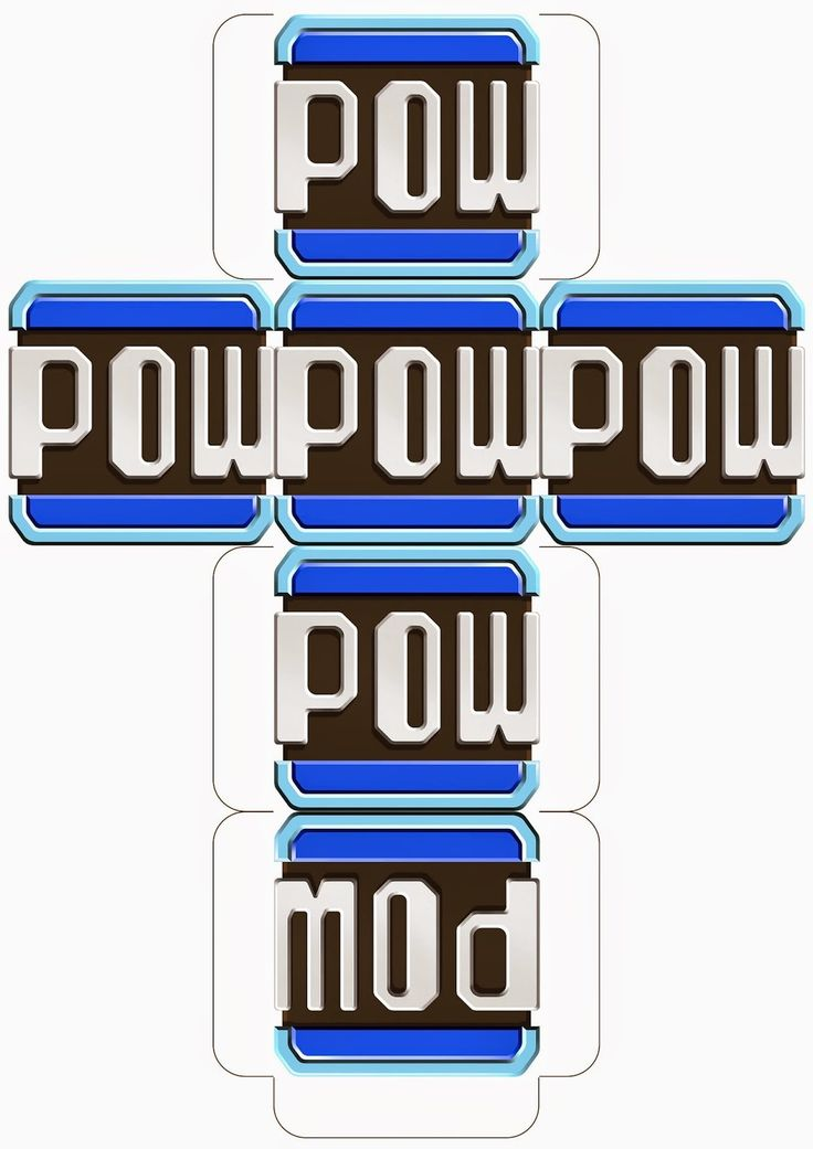 Super Mario Downloadable Pow Block Template