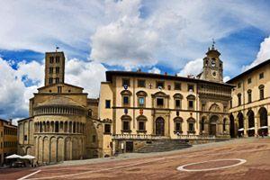 Life Is Beautiful (La Vita E Bella) location: the town square: Arezzo,Tuscany, Italy