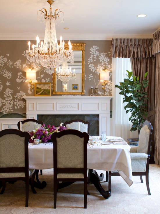 Traditional Dining Room Wallpaper Design, Pictures, Remodel, Decor And Ideas    Page 3 Part 76