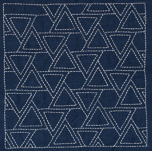 Sashiko Quilting Patterns : 268 best A) Quilts - Sashiko images on Pinterest Japanese embroidery, Embroidery stitches and ...