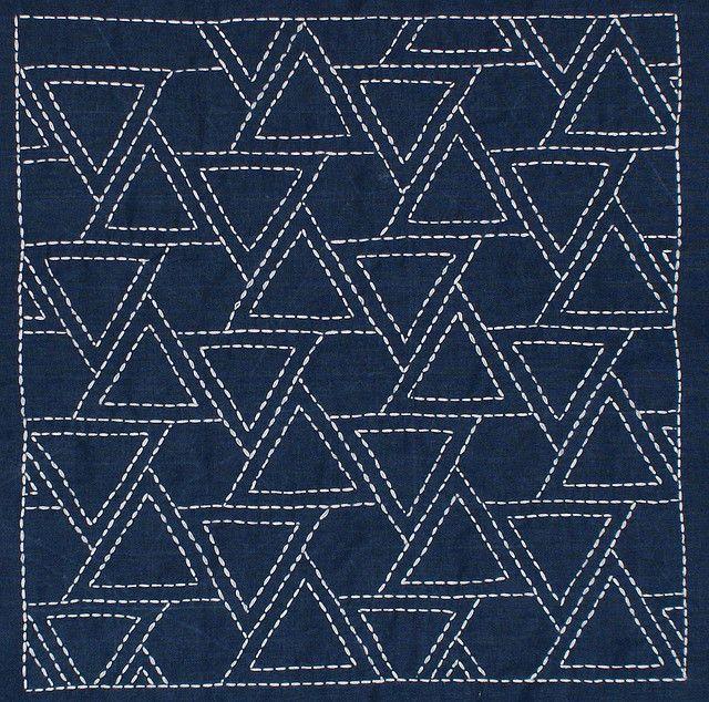 sashiko triangles