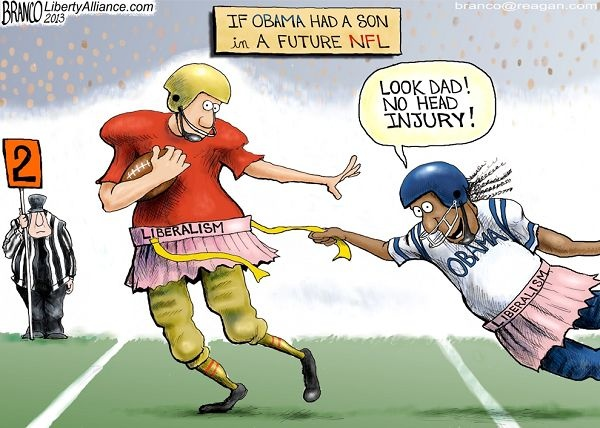 Image result for football players are stupid because of head injuries cartoon