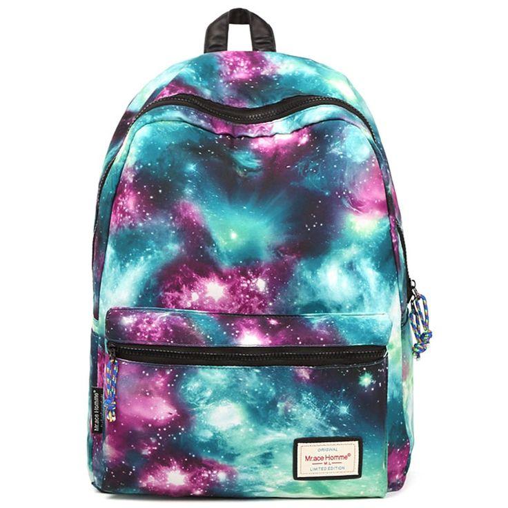EcoCity печати рюкзак звездное небо школьные сумки для девочек женщин рюкзак школы школьные сумки для подростков студенты рюкзак
