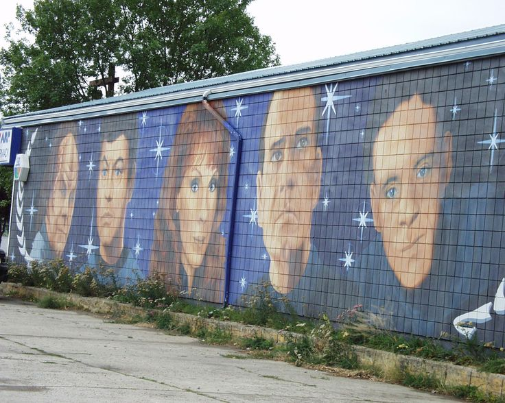 Wall Mural Depicting Star Trek Characters In Vulcan Alberta Part 59
