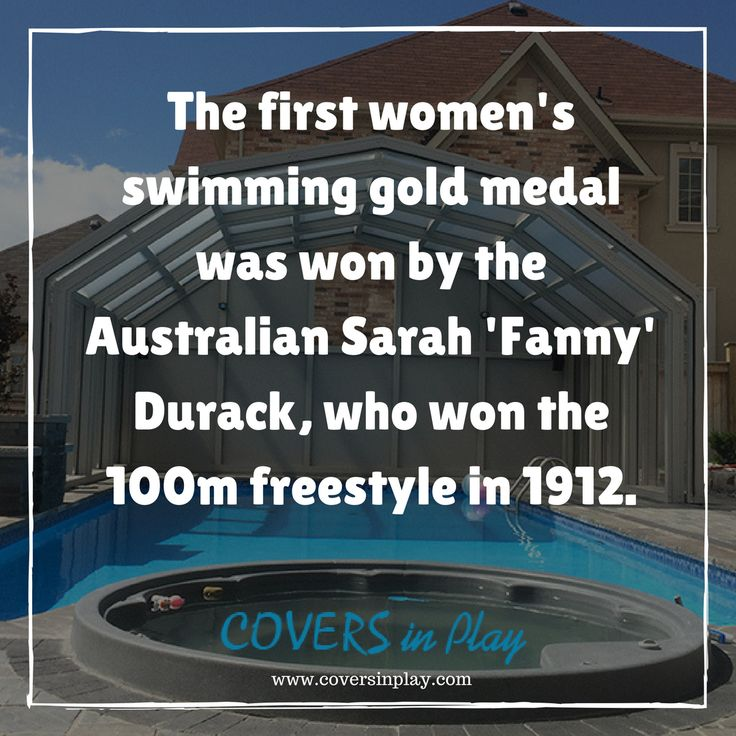 Did you know about this women's victory in swimming? You must read this.  http://www.coversinplay.com#PoolCover #Cover #Enclosure #PoolFacts #PoolEnclosure #SwimmingPool