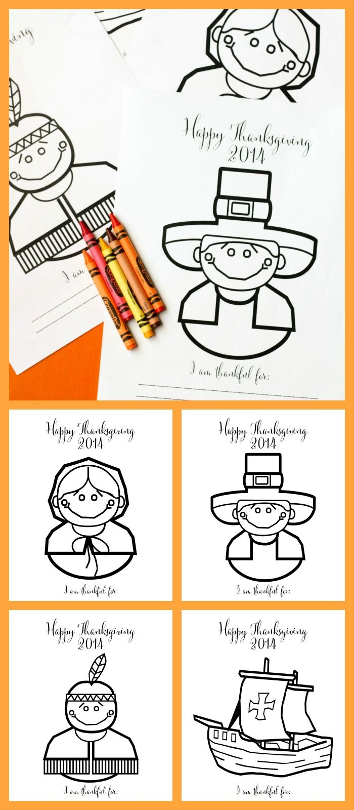 FREE Printable Thanksgiving Coloring Pages - perfect for entertaining the kiddos on Turkey Day! { lilluna.com }