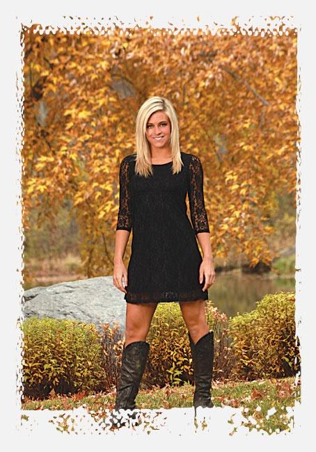 Cowgirl Tuff Western Dress Womens 3 4 Sleeve Large Black