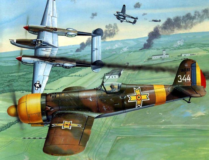 Royal Romanian AF IAR-81C Nr.344 Dan Valentin Vizanti, Ploiesti 1944, by Don Greer.
