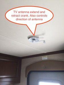 Jayco travel trailer tv antenna crank and direction